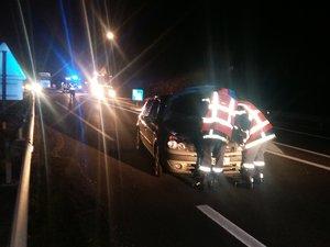 Les secours sont intervenus en début de soirée sur la RD 840, après qu'une Renault Clio a violemment heurté un piéton.
