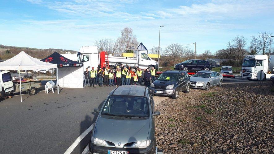 A Pont-de-Salars, les gilets jaunes se sont organisés.