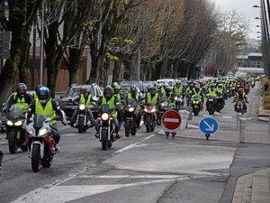 Plus de 200 motards ont défilé ce samedi après-midi dans les rues de Rodez.