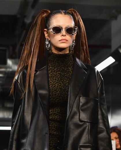 Kaia Gerber au défilé automne 2019 d'Alexander Wang, le 1er décembre 2018 à New York.