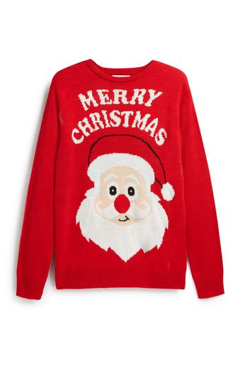 "Le pull de Noël ""Merry Christmas"" de Primark."