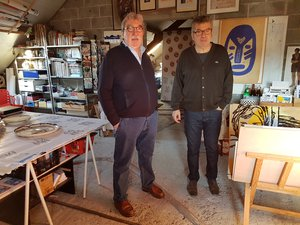 L'artiste Gérard Marty a ouvert son atelier