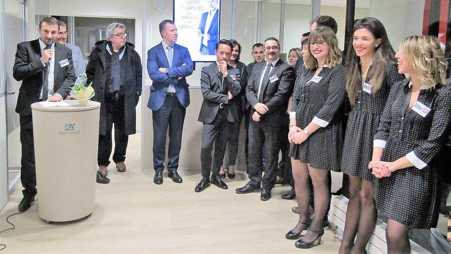 Les sept conseillers dédiés et experts de proximité de l'agence ont accueilli le discours de leur directeur avec le sourire.