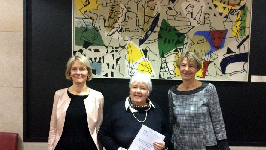 V. Louwagie, J. Gourault et Anne Blanc./Photo DR.