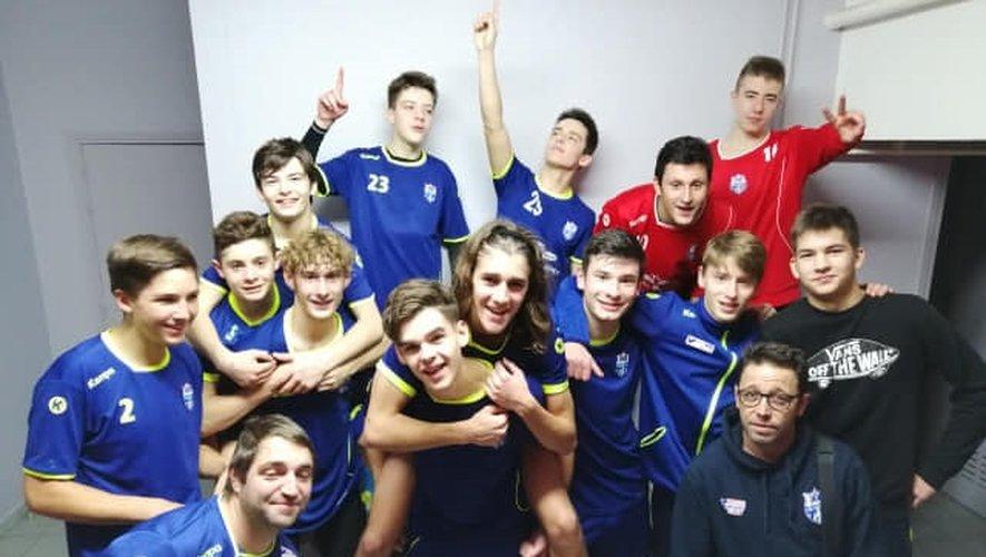 Les moins de 17 ans garçonsdu Roc ont signé ce week-end leur première victoire contre Thuir (38-30).