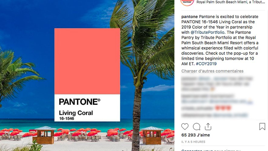 Pantone sur Instagram