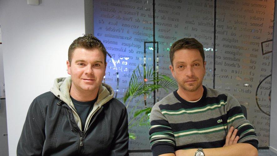 William Vic et Cyril Hoareau, deux gilets jaunes aveyronnais qui iront à Paris