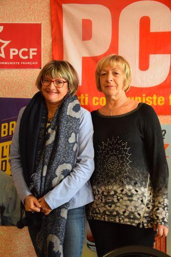 Corinne Compan, secrétaire départementale de Millau 1, aux côtés de l'ancienne secrétaire départementale Martine Perez.