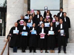 Les avocats du barreau de l'Aveyron avaient déjà fait grève le 22 novembre dernier.