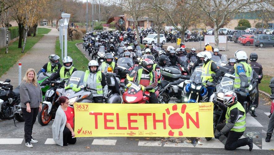 Plus de 200 motards aveyronnais ont répondu présent pour le Téléthon.