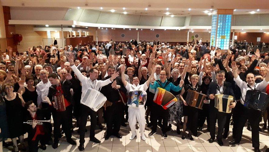 Lors de l'édition 2018 du gala d'accordéon.