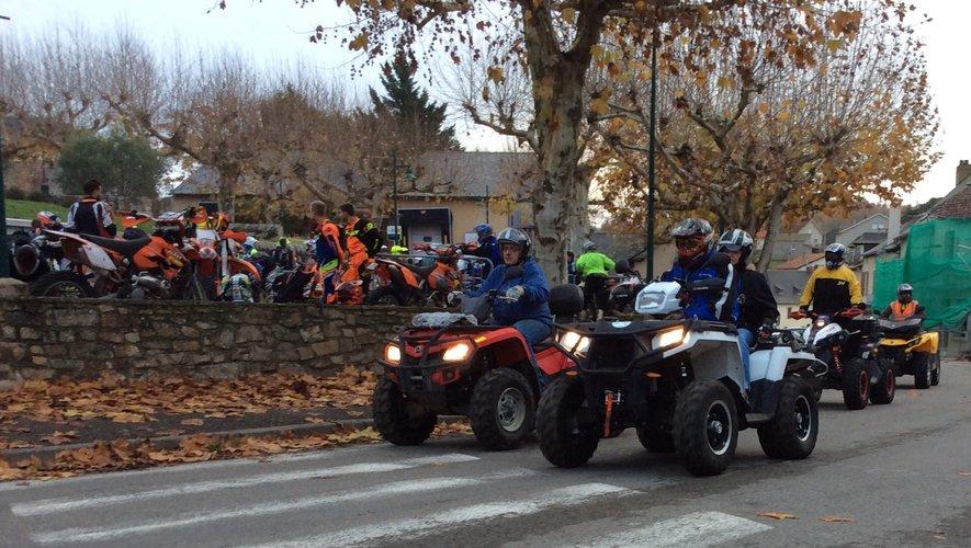 Le Téléthon rassemble motards et quadeurs