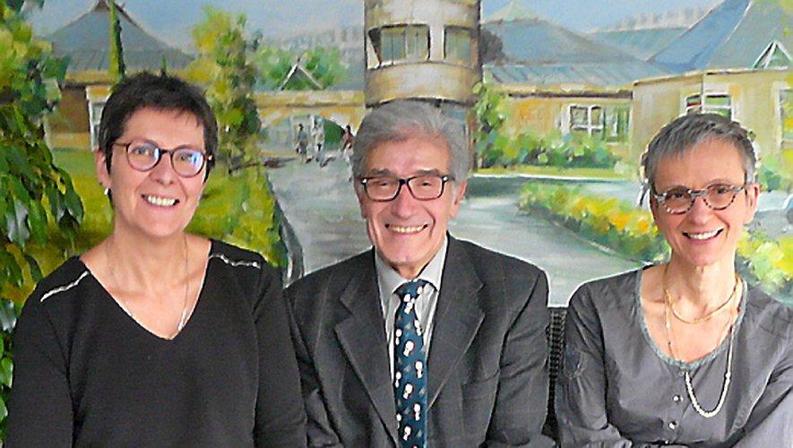 V. Cussac, présidente de la CPAM avec A. Vie et S. Ramon-Fabre, président et directrice de La Rossignole.