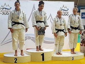 Chloé Sincholle a décroché la médaille d'argent en +78 kg au tournoi juniors de Toulouse.