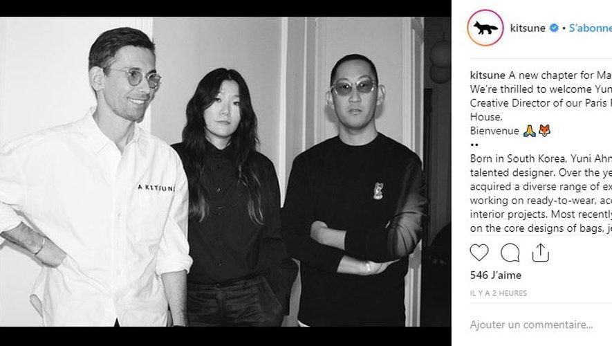 Maison Kitsuné présente sa nouvelle directrice de la création Yuni Ahn.