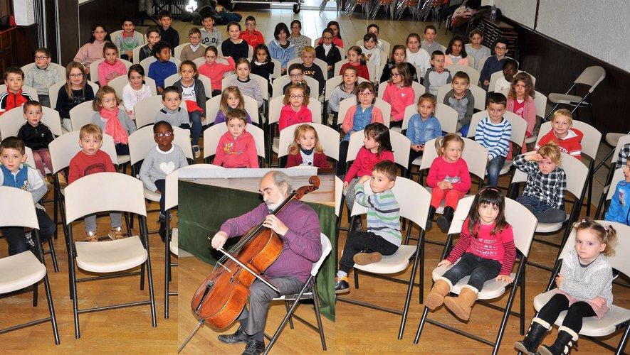 Marc Drobinsky, prestation et découverte d'un artiste et d'un instrument pour les enfants de l'école  Noëlle et Yves Duteil.