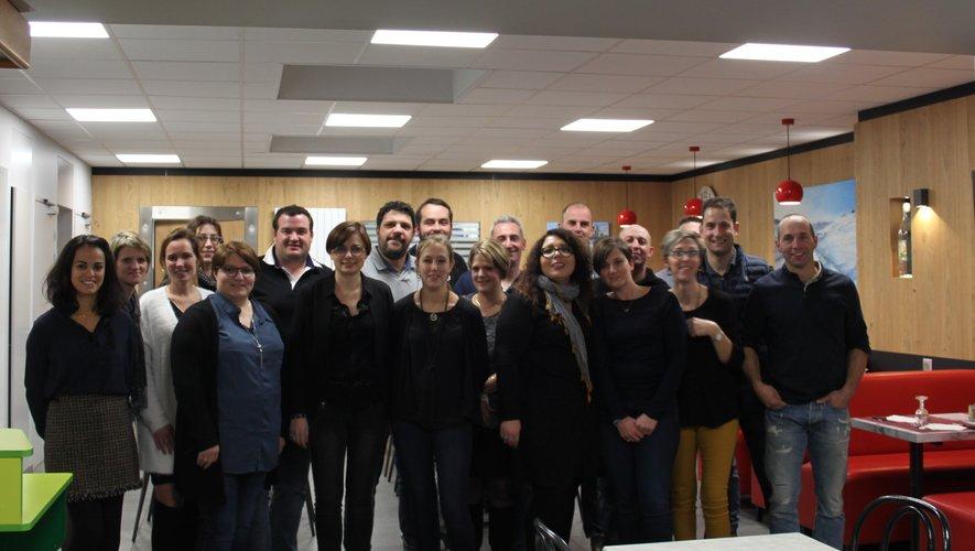 Une vingtaine de classard au café français