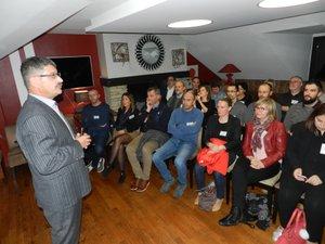 Patrick Jeanjean, le président du club d'entreprises du Pays bourian (Gourdon), a fait part de son expérience.