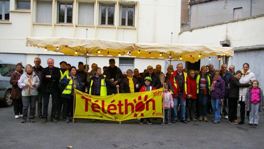 Au retour, les marcheurs du Téléthon ont eut droit à une collation.