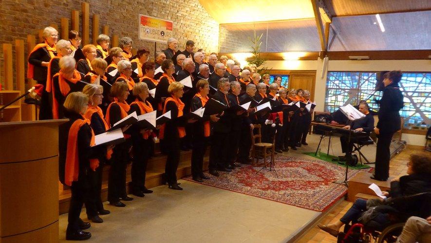 """Un concert de Noël très prisé avec """"Les Troubadours du Rouergue"""""""