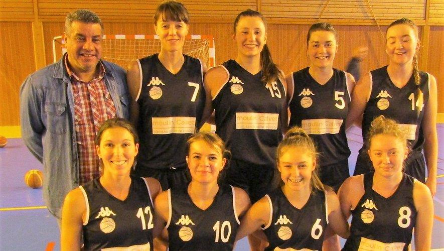 L'équipe I des seniors filles bien calée au milieu du tableau.