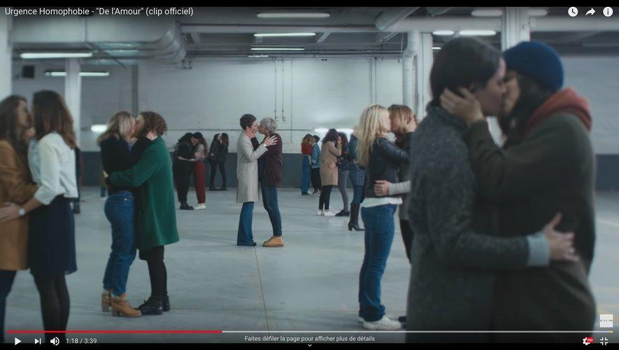 Un clip De l'amour contre les violences homophobes