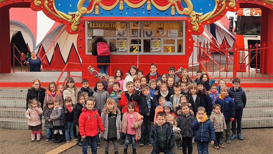 Les enfants ravis de leur sortieau cirque