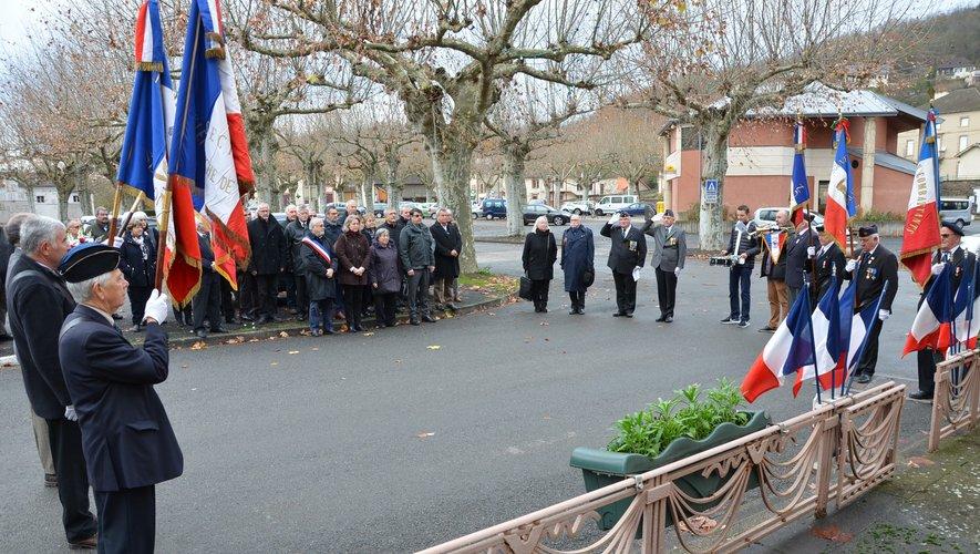 Au cours de l'hommage au gendarme Raymond Traversac, mort pour la France.