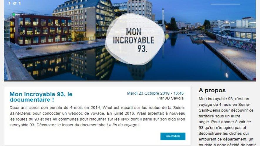 """Blog """"Mon incroyable 93"""""""