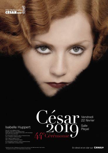 Isabelle Huppert illustre l'affiche des César 2019