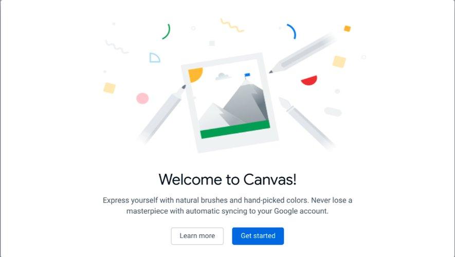 """Chrome Canvas s'appelle """"Dessin"""" en français"""