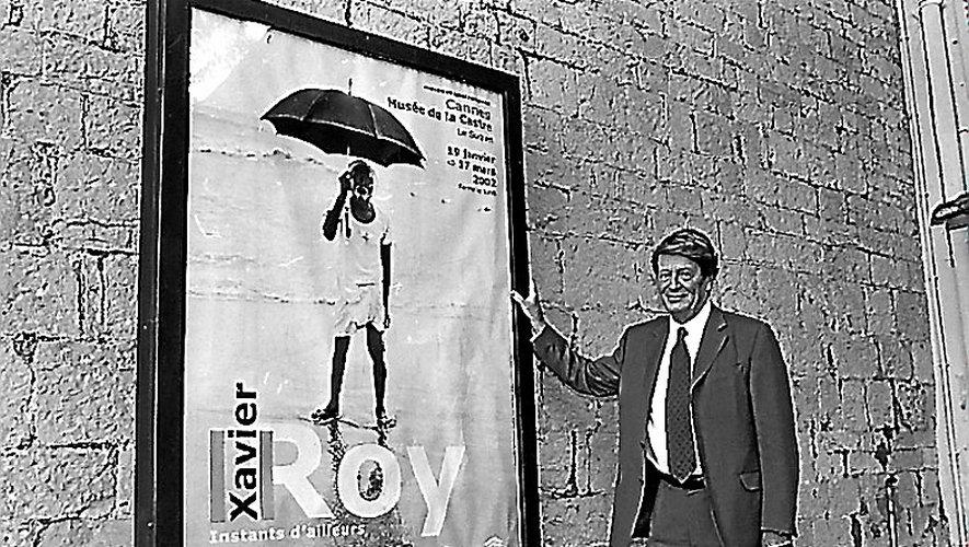 Xavier Roy, lors de sa première expo, à Cannes, en 2002.