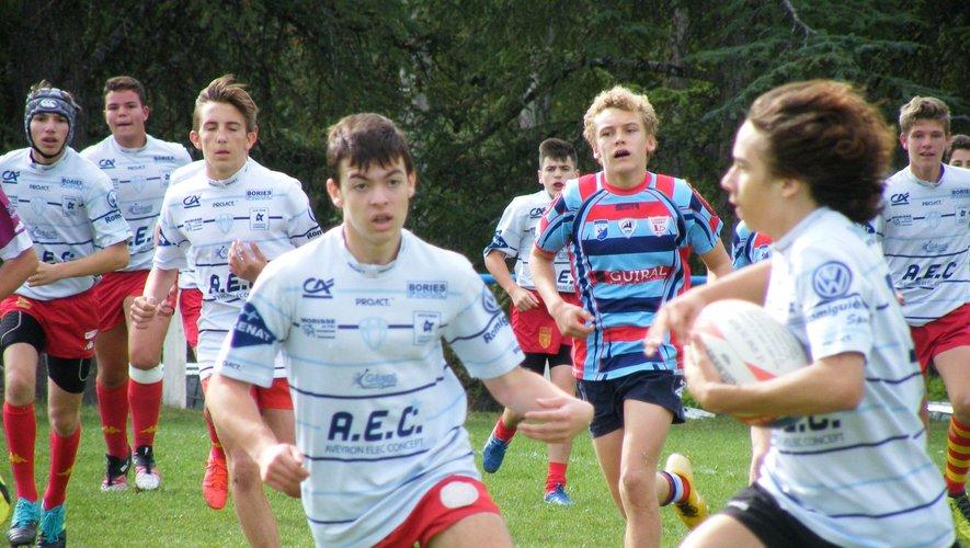 Les cadets de l'entente Aveyron Centre Ouest Rugby