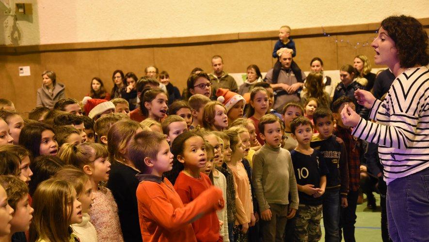 Ceux du primaire ont chanté.
