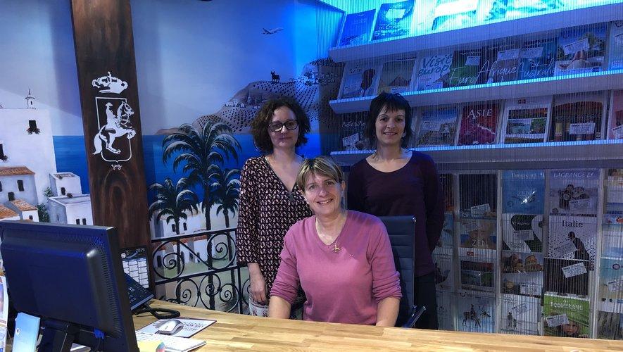 Myriam Marniesse, Myriam Laviolette et Gaëlle Brenon,les « trois drôles de dames » d'Alfa Voyages.