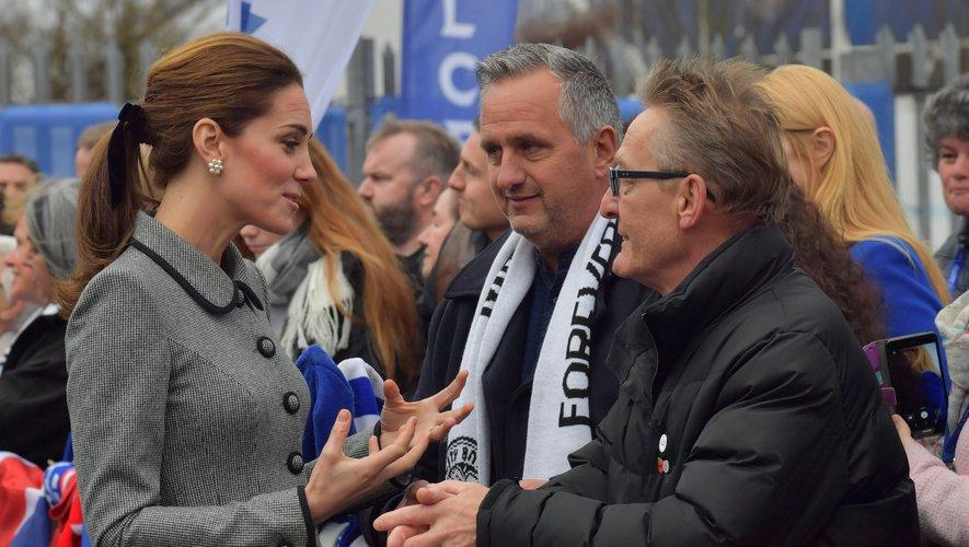 La duchesse de Cambridge en visite au King Power Stadium de Leicester, le 28 novembe 2018.