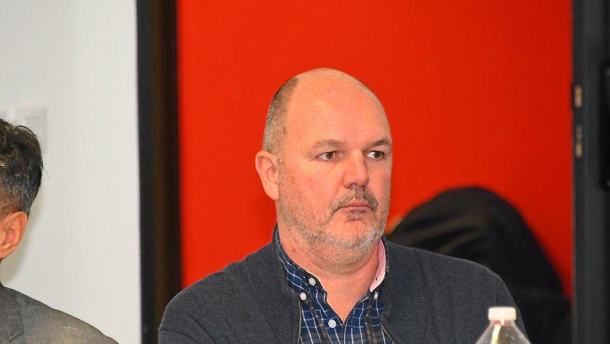 Jean-Paul Barriac, le président du SRA, jeudi, lors de l'assemblée générale du club.