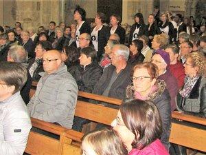Le public a apprécié l'interprétation des choristes.