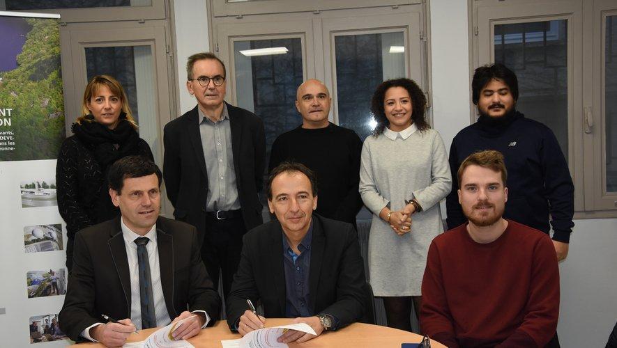 Alain Picasso et Éric Picard ont signé la convention.