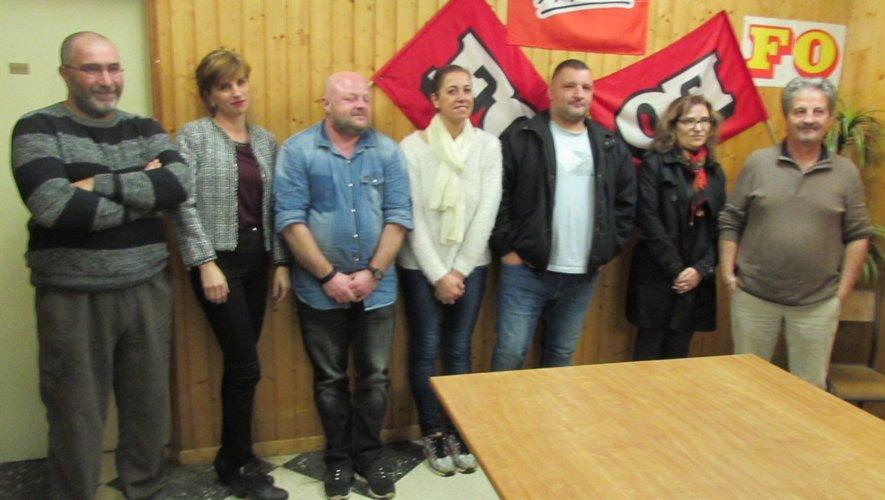 Les représentants locauxde Force ouvrièresont satisfaits des résultatsdu vote du 6 décembre.