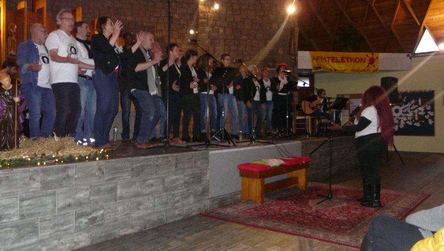 La chorale Gospel a enchanté son public.