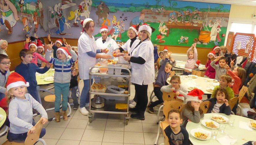 Le repas de Noël a régalé les élèves des quatre écoles communales