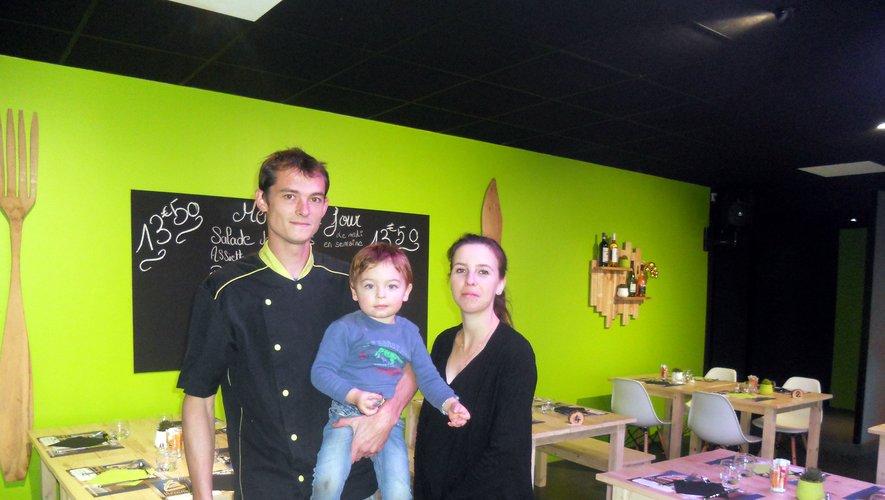 Gaëtan et Laura, nouveaux restaurateurs.