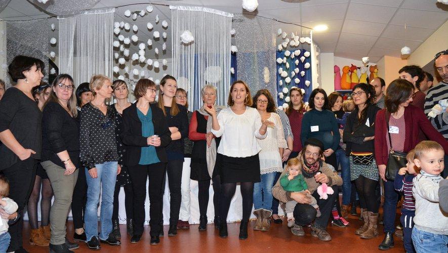 L'équipe de Hanane Karam a accueilli les parenst et leurs enfants.