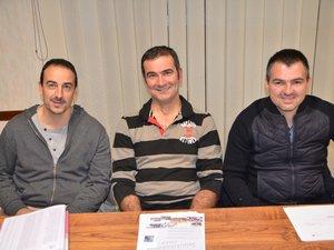 Guy Tardieu (au centre) a passé le relais à Sébastien Vernhet et Matthieu Rouquier.