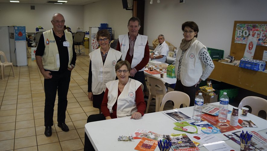 Les bénévoles lors de la collecte.