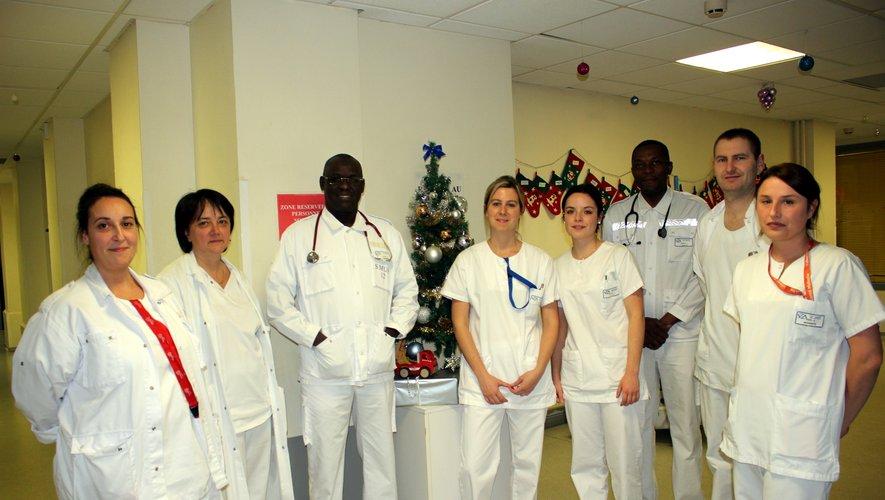 L'équipe des urgences et du labo à l'hôpital de Decazeville./ DDM, BHSP.