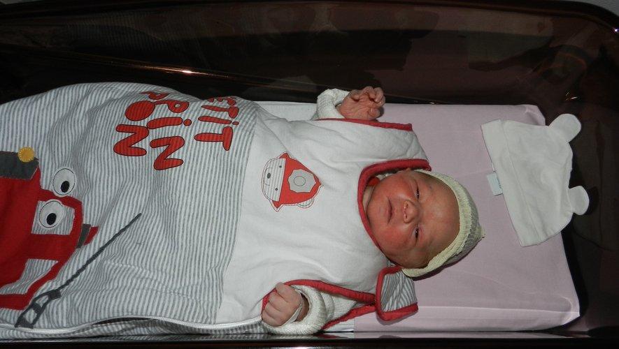 Premier bébé 2019 en Aveyron, le petit Peïo Evanno, est né à 3h44 à Villefranche-de-Rouergue.