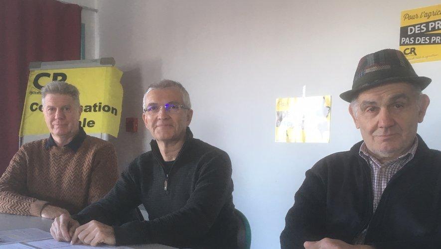 Jean-Noël Verdier, à droite, Bernard Lannes (au centre) et Pierre Lapeyre.