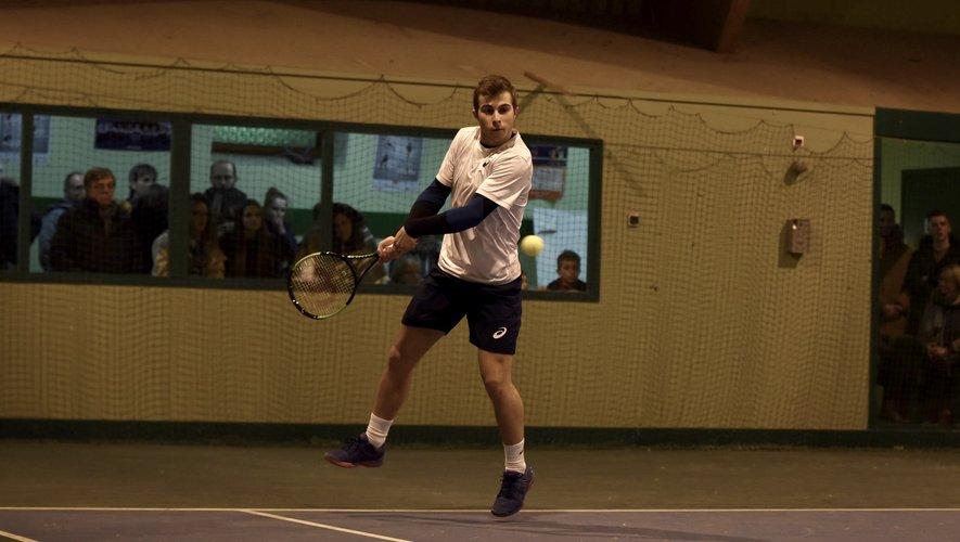 Hugo Gaston, ce vendredi lors de son quart de finale victorieux, 6-1 6-2.